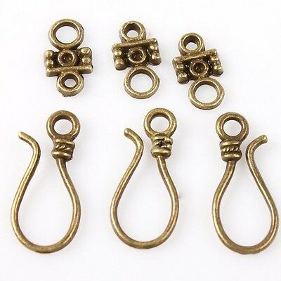 40x Antique Bronze Toggle Clasps Charms Jewelry Making Findings 160631