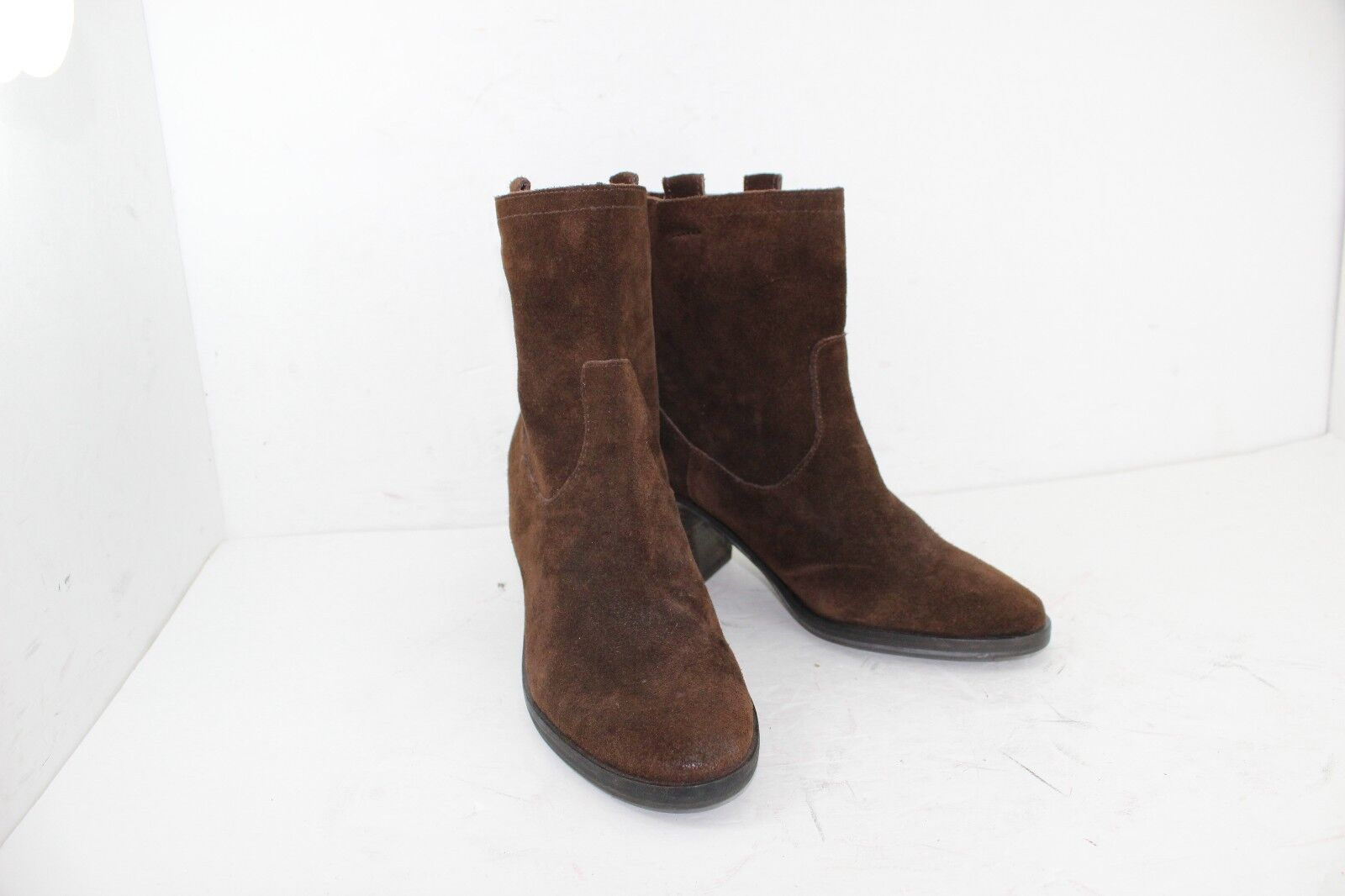 SAM EDELMAN BOOTS LEATHER SUEDE SIZE 7.5 M BROWNS NEW