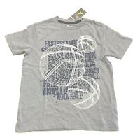 Boys Gray Athletic Tee Shirt Old Navy Active Basketball Fast Break Print