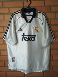 huge selection of c26f9 13f02 Details about Real Madrid Home football shirt 1998 - 2000 Size L jersey  soccer Adidas