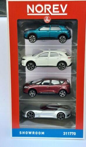 Norev 1//64 Pack Showroom 4 voitures 2018 neuf en boite V2