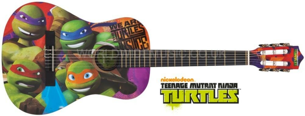 Teenage Mutant Ninja Turtles Junior 3/4 Größe Guitar Complete Outfit