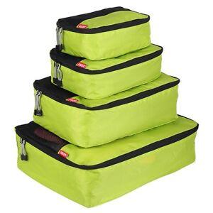 Zoomlite Packing Cubes 4 pc Set (Lime) - Travel Luggage Organiser Storage
