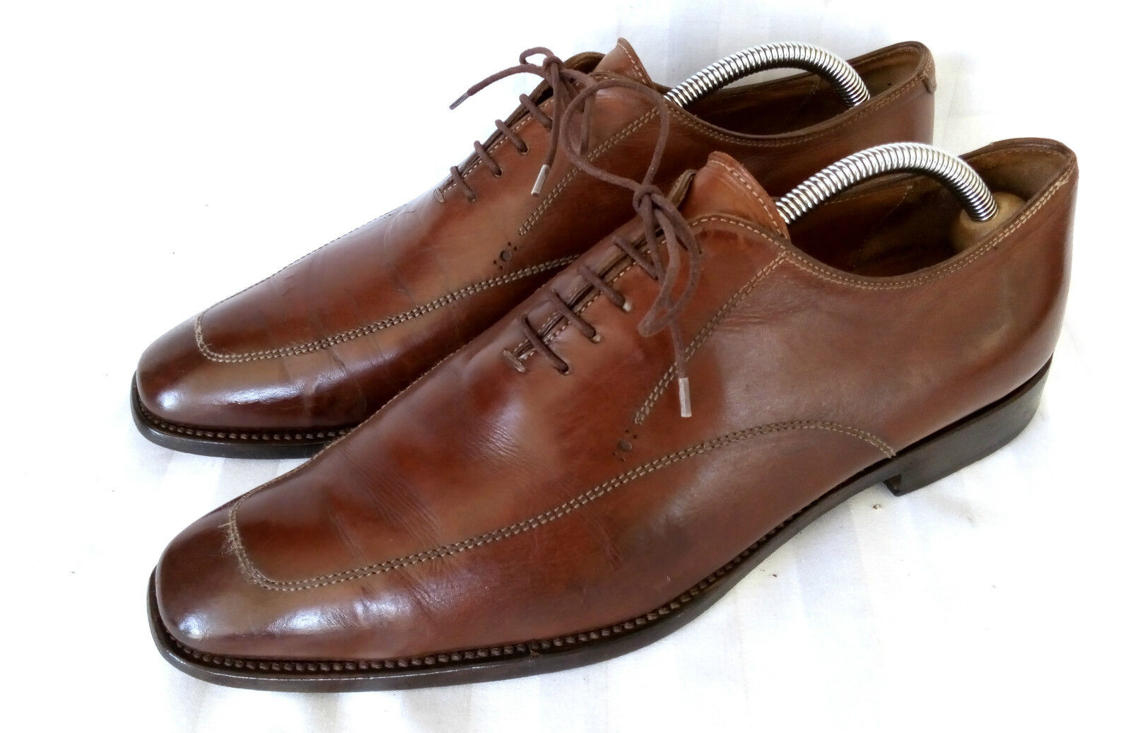 W. Gibbs Wholecut Oxford Business Herrenschuhe Braun Rahmengenäht (42) Gr. 43