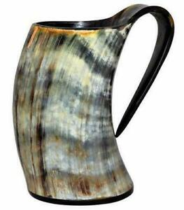 Medium Ox Horn Tankard Horn Mug Cup Beer Glass Viking Drinking Vessel