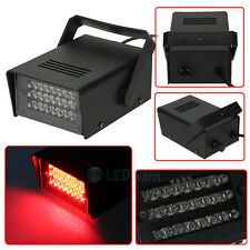 RED Mini DJ Strobe Light Flash Light Club Stage Lighting Party Disco 24LED Bulb