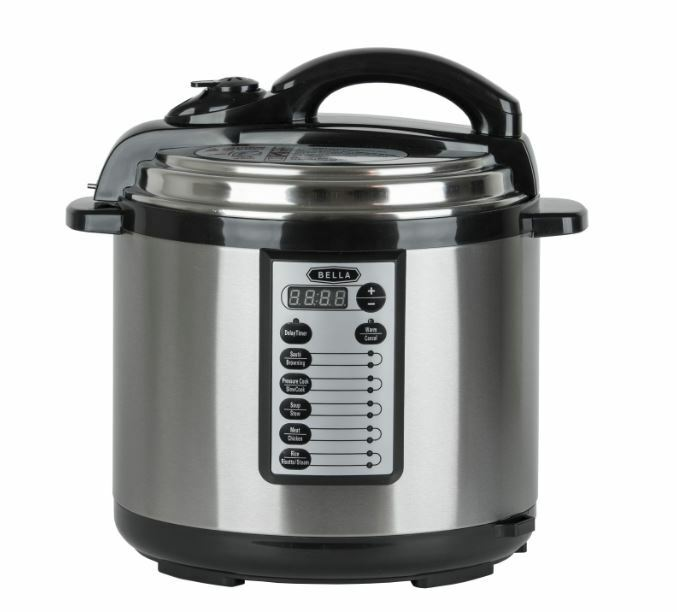 Bella 8-Qt. Electric Digital Pressure Cooker Stainless Steel Sealed Brand New