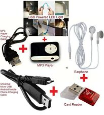 Combo Pack-MP3 Player | Card Reader | USB Powerd LED Light | USB Cable etc..