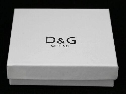 New DG Gift Inc Men/'s Women/'s CZ .925 Sterling Silver 6mm Square Push Stud Box