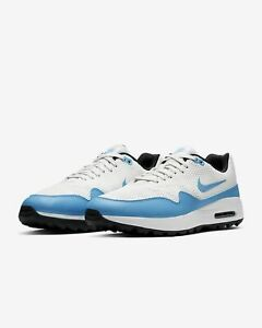 New Mens Nike Air Max 1 Golf Shoes Uk Size 9 5 Blue White Trainers Grass Ebay