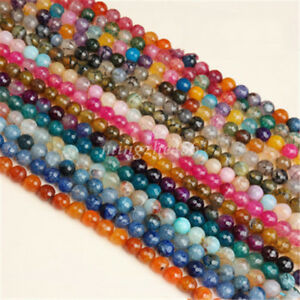 Charm-Facted-Cracked-Crystal-Glass-Loose-Gemstone-Bead-Jewelry-Making-4mm-12mm