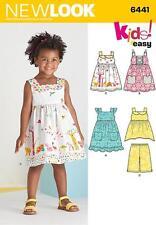 """NEW Look da cucire modello Toddlers """"facile Abiti, Top & RITAGLIATA Pantaloni 1/2 - 4 6441"""