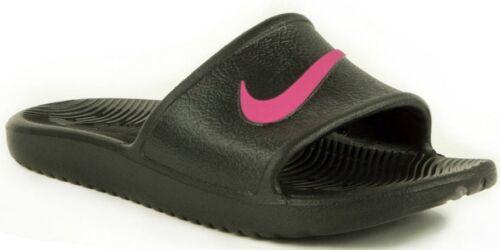 Nike Ragazze Da Donna KAWA doccia CURSORI diapositive Infilare Sandali Piscina Nero/Rosa
