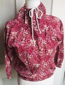 Small-Cowl-Tie-Neck-Turtleneck-Long-Sleeve-Shirt-Floral-Jacket-Sweatshirt-Vintag