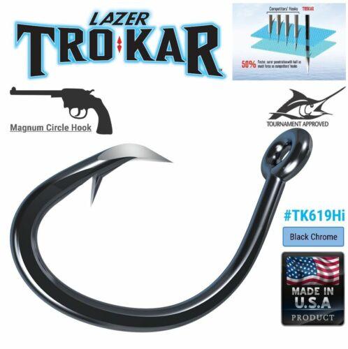 Trokar Heawy Duty Offshore  Fishing Magnum Circle Non-Offset Hooks Tk619hi
