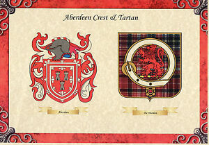 SCOTTISH-IRISH-FAMILY-NAME-SURNAME-COAT-OF-ARMS-CREST-TARTAN