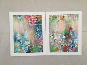 Original-Painting-Abstract-Acrylic-Art-on-canvas-Set-of-2-paintings-20-x16-each