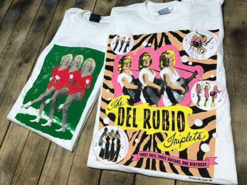 XL vtg del rubio triplets t shirt lot * pee wee he