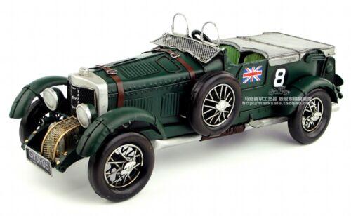 Handmade Bentley Supercar 1929 Vintage Diecast Model Bar Decoration Collection