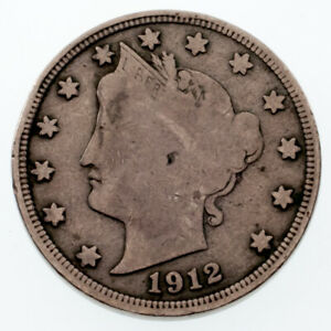 1912-S United States Liberty V Nickel - F Fine Condition