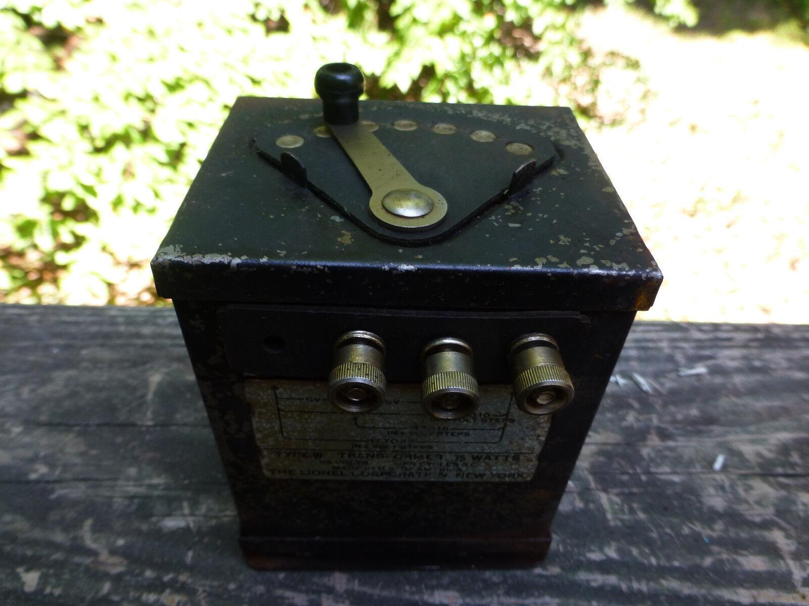 Vintage Lionel Type W 115 Volts 75 Watt Transformer