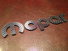 """5.5"""" Mopar Carbon Fiber Sticker Vinyl Decal Charger Dart Challenger Hemi SRT RT"""