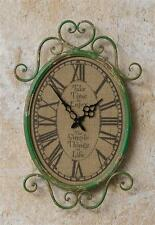 New Shabby French Country Chic TAKE TIME SIMPLE THINGS Green Hanging Wall Clock