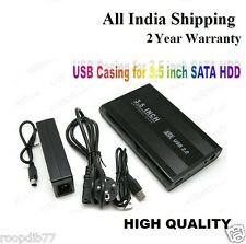 EXTERNAL USB Casing for 3.5 inch SATA HDD Harddisk Desktop PC Hard Disk, Boxpack