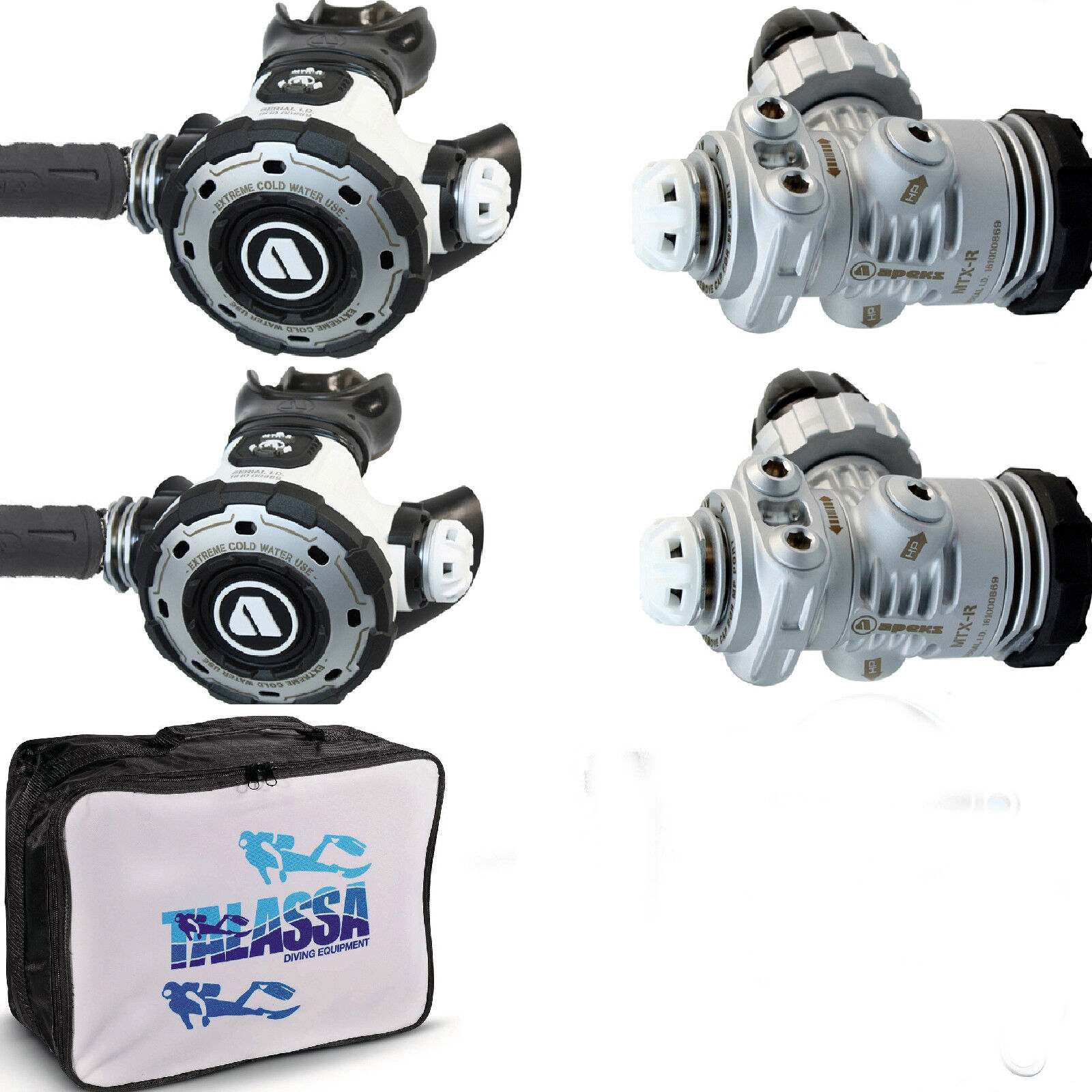 LO3 DIR kit regulators  Apeks MTX-R + hoses