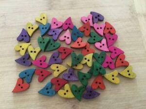 8-Coloured-Wooden-Heart-Buttons-20mm-W0010-Aussie-Seller