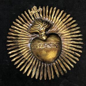 Ex-voto-vintage-Cuore-heart-Pgr-gr-love-sacro-tattoo-vintage-Italy-11-5-cm