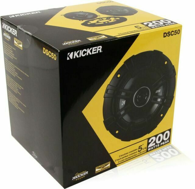 130mm Kicker DSC50 5.25-Inch 4-Ohm Coaxial Speakers Pair