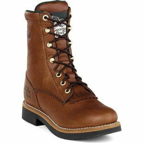 Georgia Men's Farm and Ranch Lacer Work Walnut Boots G7014