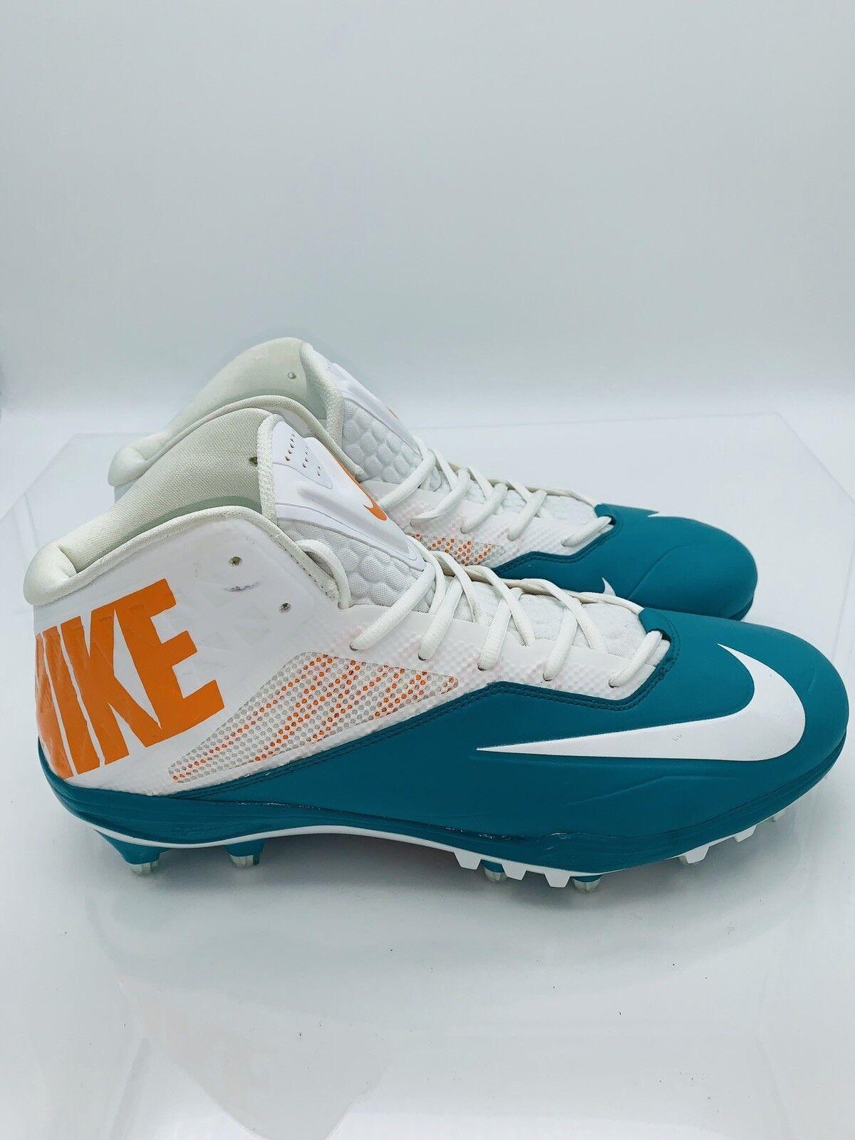 74b123aa86 NIKE Men's Zoom Code Elite 3 Detachable Football Cleats White orange ...