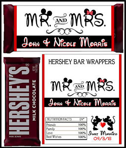Image Is Loading Disney Mickey Amp Minnie Wedding Favors Hershey Candy