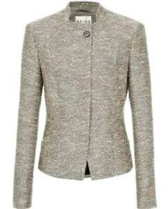 Tweed Sans Reiss Veste Col Taille Marque Designer Yen Neuf M M qPcgTZWW6n
