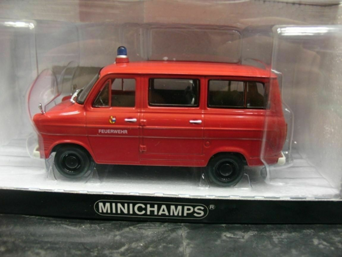 WOW EXTREMELY RARE Ford Transit Mk1 MkI Bus 1965 Fire Brigate 1 43 Minichamps