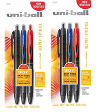 2 Packs Uniball 307 Signo Gel Rollerball Retractable Pens Assorted Uni Ball
