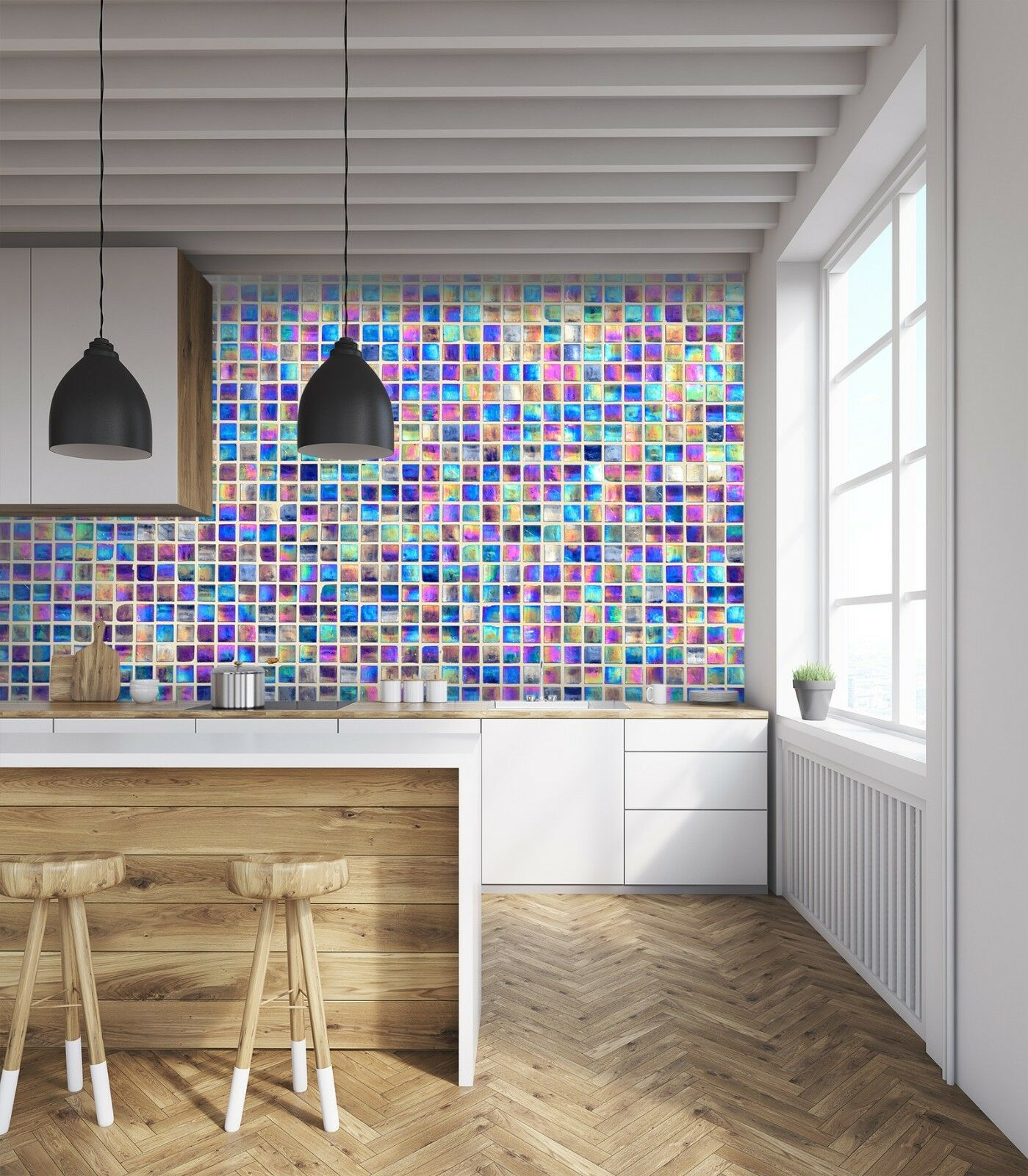 3D Farbe Mosaic 821 Texture Tiles Marble Wall Paper Decal Wallpaper Mural