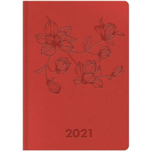 Idena Minitimer 2021 A6 Prägung Blumen Taschenkalender Terminplaner Timer Agenda