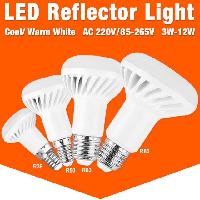 Luces LED E27 E14 Bombilla Lámpara Brillante reemplazo Reflector 5730 SMD 85 ~ 265V 3-12W