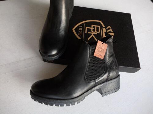 Nouveau black boots bottine en cuir véritable noir Made in Portugal T 38-41