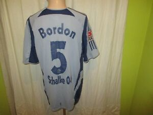 Fc-shalke-04-original-adidas-proporcionen-camiseta-2005-06-n-5-bordon-talla-L