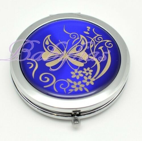 Compact Mirror Butterfly Wedding Bridal Shower Favors Party Purse Gift Silver