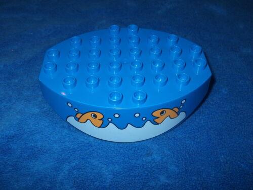 LEGO DUPLO SPIELPLATZ 1 X PLATTE WIPPE BLAU 8 x 6 FISCHE 2281 HAIFISCHBECKEN Wow