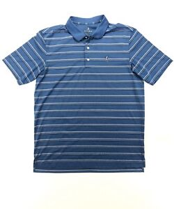 Bobby-Jones-Performance-Men-s-Large-Blue-Stripe-Golf-Polo