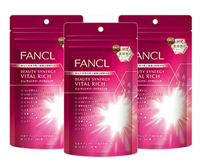 FANCL beauty synergy vital rich Supplement about 30 30 about days 240tablets Beauty Japan 6cc86f