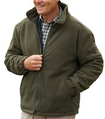 Mens Padded Fleece Jacket Coat Anti Pill Quilted Think Warm Zip Pockets | eBay