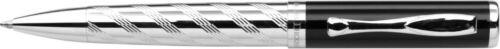 Exklusiver Charles Dickens® Kugelschreiber BATTLE silber//schwarz  Laser Gravur