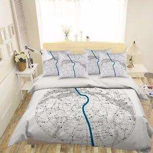 3D Constellation Bed Pillowcases Quilt Duvet Cover Set Single Queen King Size AU